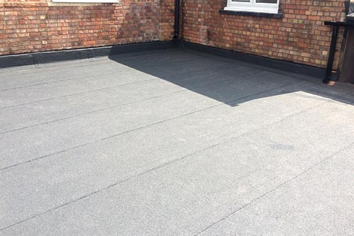 Installation of new flat roof