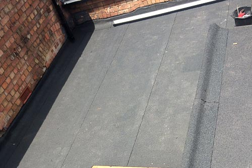 Professional felt roofing repair